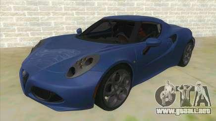 Alfa Romeo 4C para GTA San Andreas