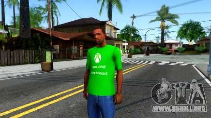 T-Shirt Xbox1 para GTA San Andreas
