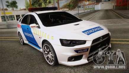 Mitsubishi Lancer Evo X De La Policía para GTA San Andreas