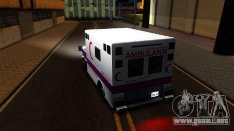 Ambulance Malaysia para GTA San Andreas vista posterior izquierda