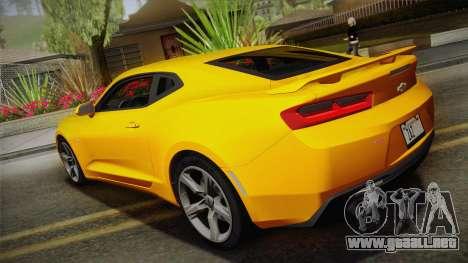 Chevrolet Camaro SS 2017 para GTA San Andreas left