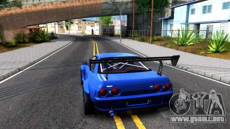 Nissan Skyline GTR R32 Rocket Bunny para GTA San Andreas vista posterior izquierda