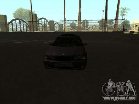 BMW 320i Armenian para la visión correcta GTA San Andreas