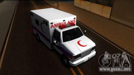 Ambulance Malaysia para la visión correcta GTA San Andreas