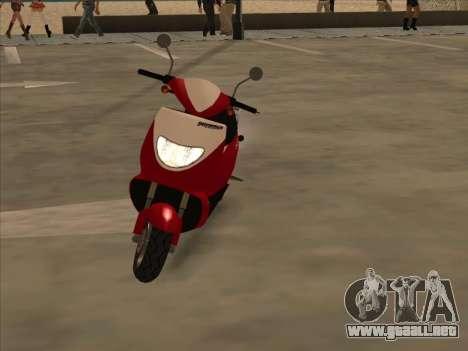GTA IV Faggio para GTA San Andreas vista posterior izquierda