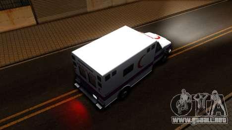 Ambulance Malaysia para GTA San Andreas vista hacia atrás