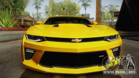 Chevrolet Camaro SS 2017 para vista lateral GTA San Andreas