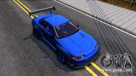 Nissan Skyline GTR R32 Rocket Bunny para la visión correcta GTA San Andreas