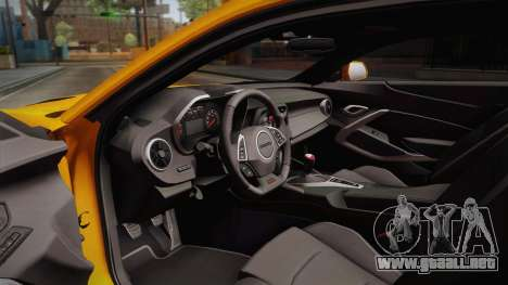 Chevrolet Camaro SS 2017 para visión interna GTA San Andreas
