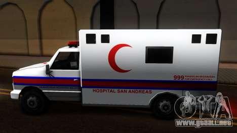 Ambulance Malaysia para GTA San Andreas left