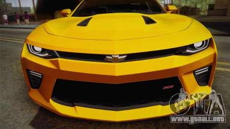 Chevrolet Camaro SS 2017 para la visión correcta GTA San Andreas