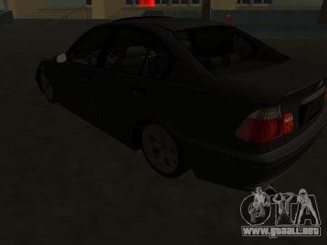 BMW 320i Armenian para GTA San Andreas vista hacia atrás