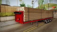Flatbed Trailer Red para GTA San Andreas