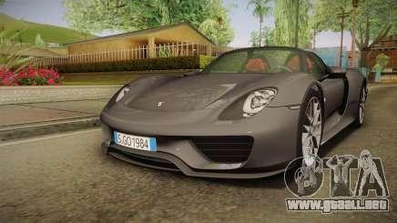 Porsche 918 Spyder 2013 Weissach Package EU para GTA San Andreas