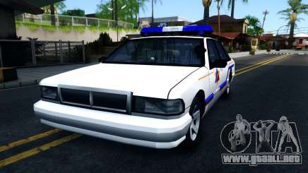 Declasse Premier Hometown Police Department 2000 para GTA San Andreas
