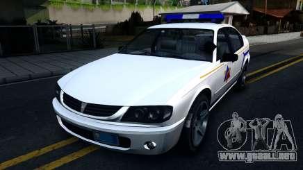 Declasse Merit Hometown Police Department 2004 para GTA San Andreas
