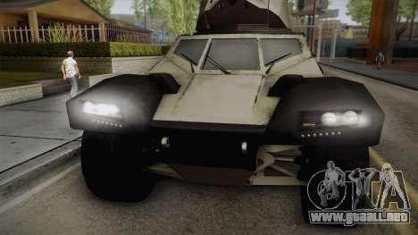 Panhard CRAB para GTA San Andreas vista posterior izquierda
