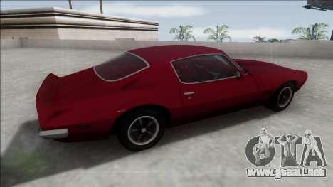 1970 Pontiac Firebird para GTA San Andreas left