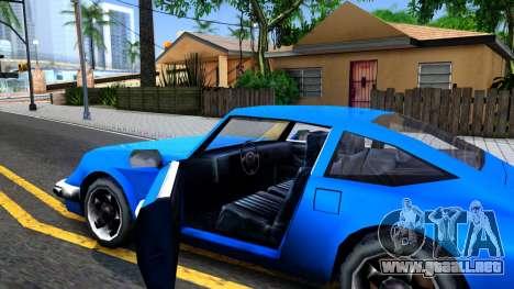 Comet Restyle para visión interna GTA San Andreas