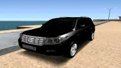 Toyota Land Cruiser 200 чёрный para GTA San Andreas