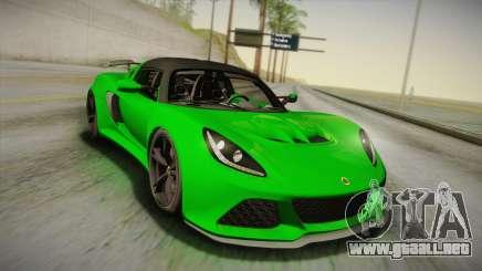 Lotus Exige Sport 350 Roadster Type 117 2014 para GTA San Andreas