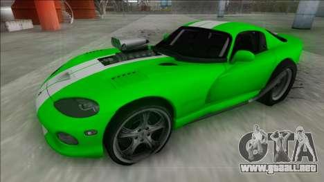 Dodge Viper GTS Drag para GTA San Andreas vista hacia atrás