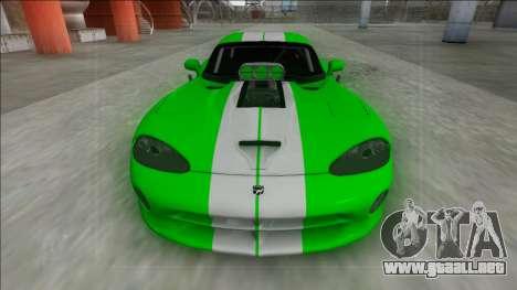 Dodge Viper GTS Drag para la visión correcta GTA San Andreas