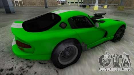 Dodge Viper GTS Drag para GTA San Andreas left