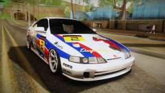 Honda Integra Tipe R Girl und Panzer Itasha para GTA San Andreas