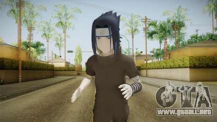 NUNS4 - Sasuke Genin Black Clothes Normal Eyes para GTA San Andreas