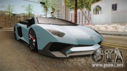 Lamborghini Aventador SV Roadster 2017 para GTA San Andreas