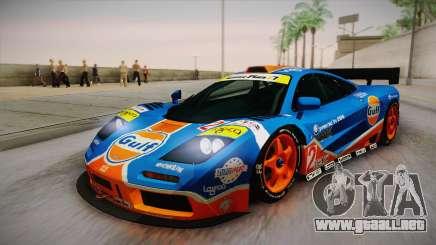 1996 Gulf McLaren F1 GTR (BPR Series) para GTA San Andreas