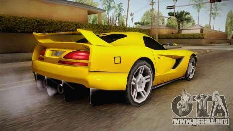 Jersey XS SA Style para GTA San Andreas left
