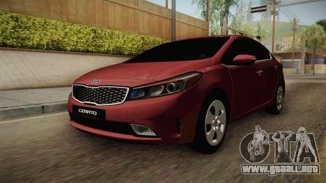 Kia Cerato para la visión correcta GTA San Andreas