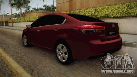 Kia Cerato para GTA San Andreas vista posterior izquierda
