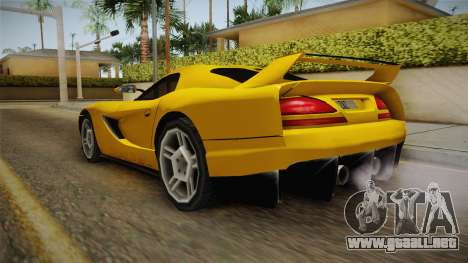 Jersey XS SA Style para GTA San Andreas vista posterior izquierda