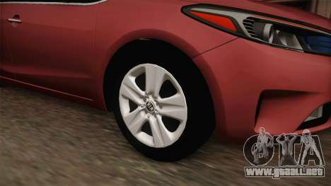 Kia Cerato para GTA San Andreas vista hacia atrás