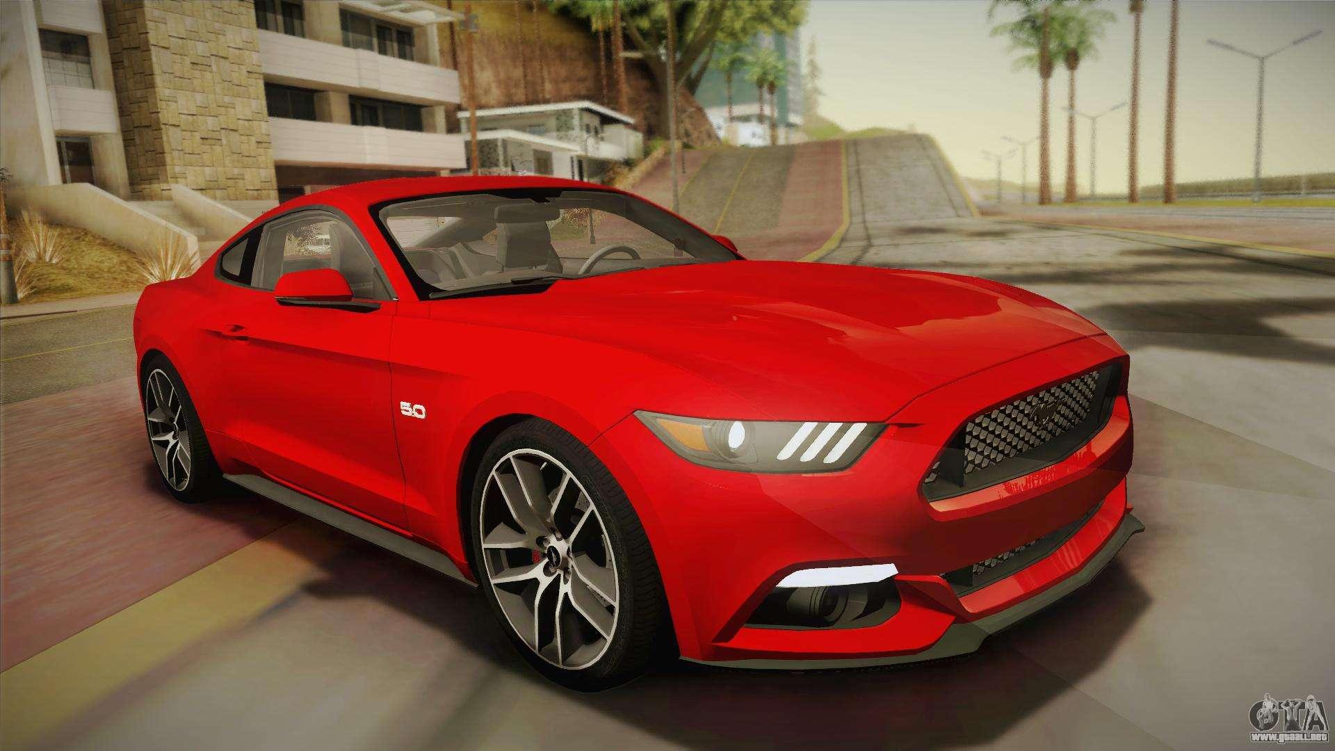 Ford Mustang Gt 2015 50 Para Gta San Andreas