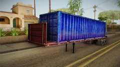Blue Trailer Container HD para GTA San Andreas