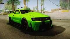 Ford Mustang NFS Green para GTA San Andreas