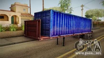 Blue Trailer Container HD para GTA San Andreas