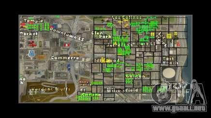 Mapa con los números de las casas de ARP para GTA San Andreas