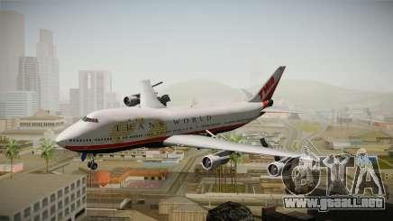 Boeing 747 TWA Final Livery para GTA San Andreas