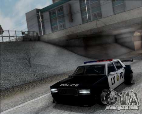 LVPD Drift Project para GTA San Andreas vista hacia atrás