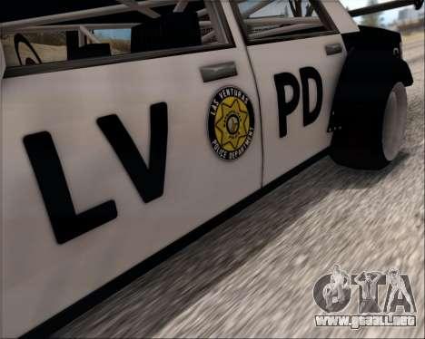 LVPD Drift Project para GTA San Andreas interior
