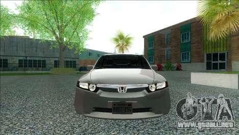 Honda Civic 2007 para GTA San Andreas vista posterior izquierda