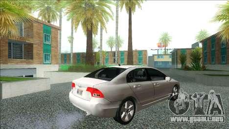 Honda Civic 2007 para GTA San Andreas left