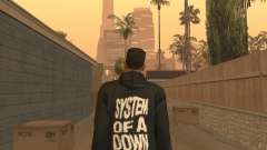 System of a Down Black Hoody v1 para GTA San Andreas