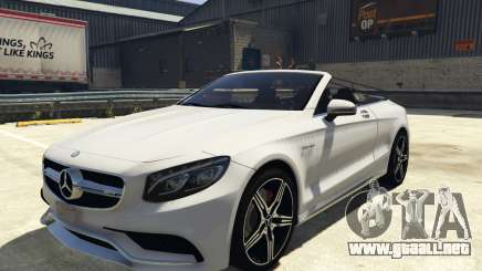 Mercedes-Benz S63 AMG Cabriolet para GTA 5