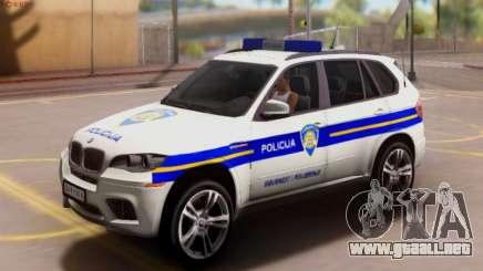 BMW X5 Croatian Police Car para GTA San Andreas